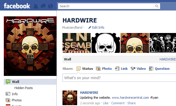 Hardwire on Facebook